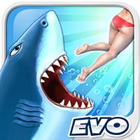 饥饿的鲨鱼进化图标