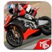 3D摩托车赛图标