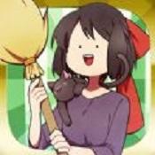 小魔女和天空飞翔的扫帚中文图标