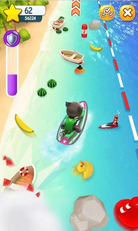 汤姆猫的摩托艇游戏截图