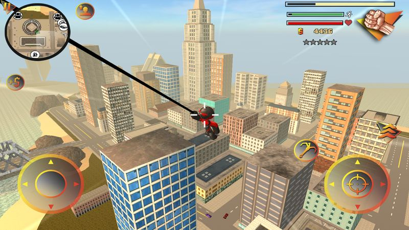 火柴蜘蛛侠英雄2(Stickman Rope Hero 2)截图2