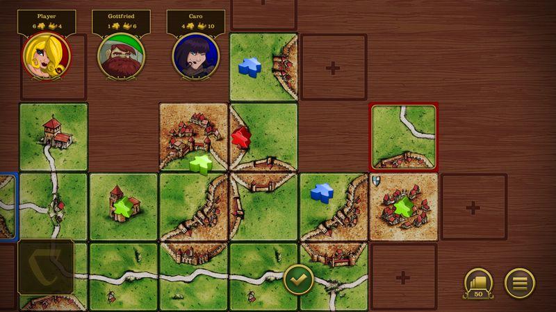卡卡颂(Carcassonne)游戏截图