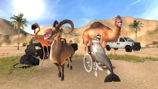 模拟山羊收获日(Goat Simulator Payday)游戏截图