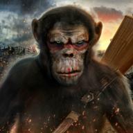 猿的生活丛林生存图标