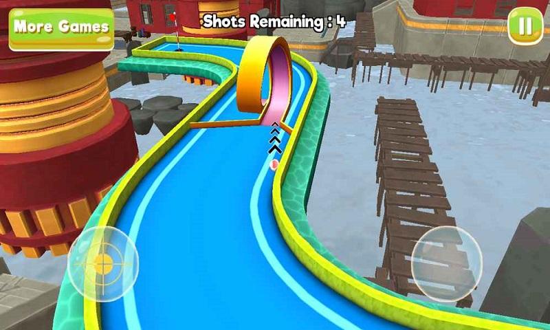 明星街机迷你高尔夫球3D城游戏截图