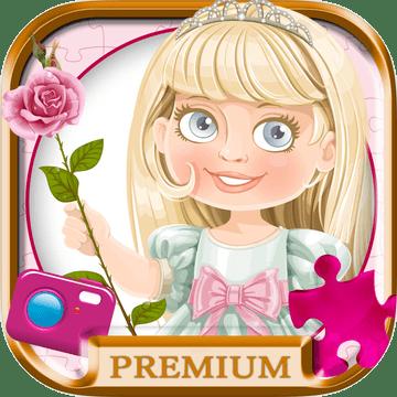 公主 滑动魔术益智照片 - 公主滑块 拼图 游戏  额外费用图标