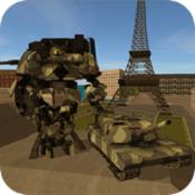 坦克变形机器人图标