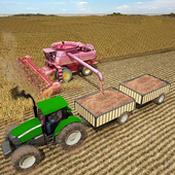 拖拉機農耕生活圖標