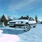 冬季越野赛车4×4图标