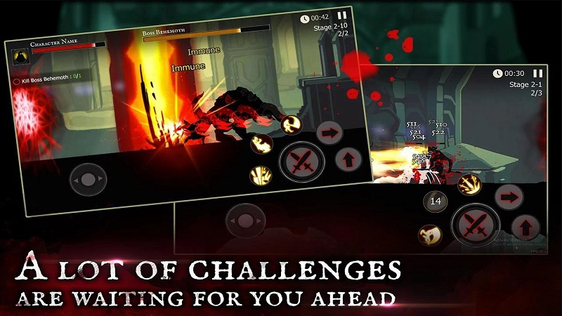死亡之影黑暗骑士魔术师战斗游戏截图