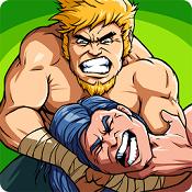 肌肉力量:弹弓摔跤图标