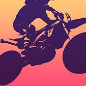 极简摩托骑士图标