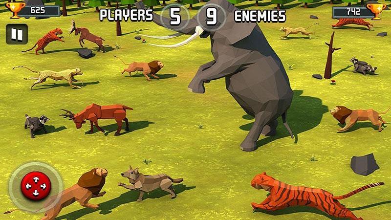 动物王国战斗模拟器3D截图1