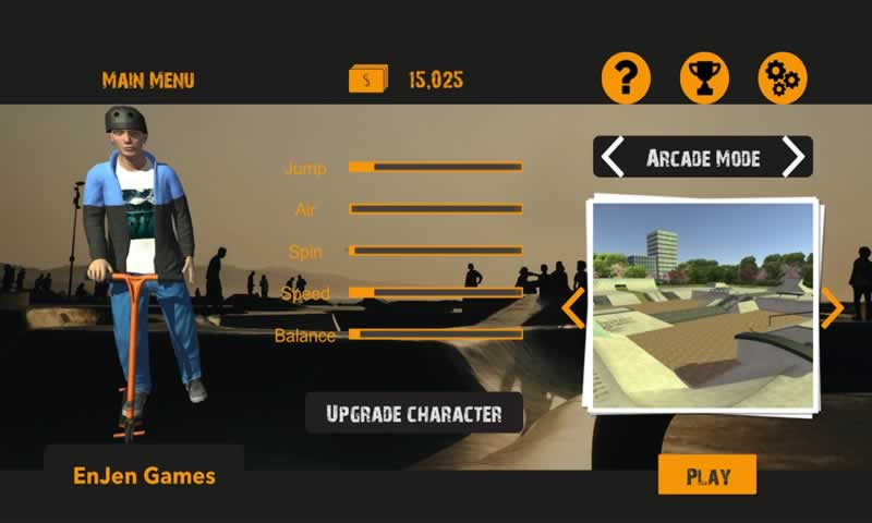 滑板车3D2游戏截图