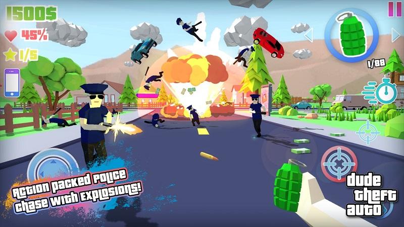 Dude Theft Auto开放世界沙盒模拟器截图1