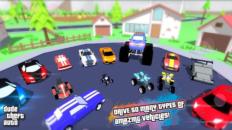 Dude Theft Auto开放世界沙盒模拟器截图2
