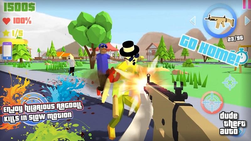 Dude Theft Auto开放世界沙盒模拟器截图4