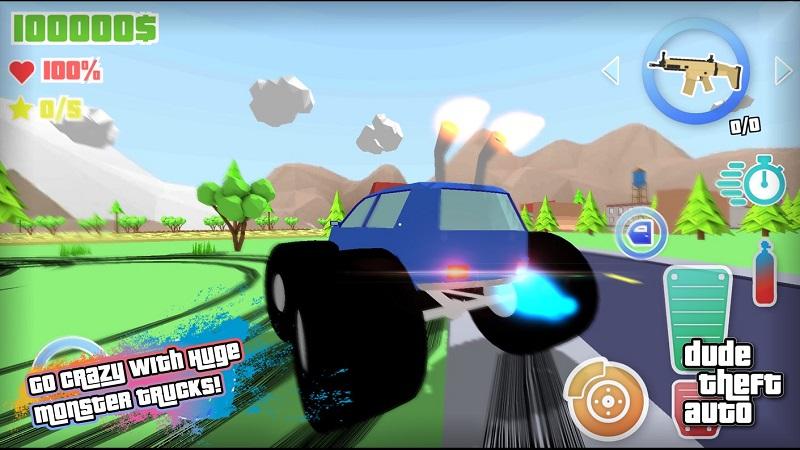 Dude Theft Auto开放世界沙盒模拟器截图6