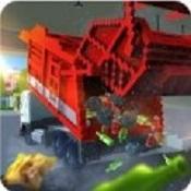 像素垃圾车模拟图标