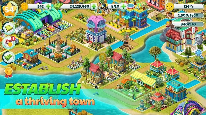 岛屿城市:天堂村庄4U无限金钱版游戏截图