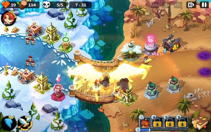 英雄防御之王无限宝石版游戏截图