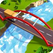 交通桥梁建筑的道路图标