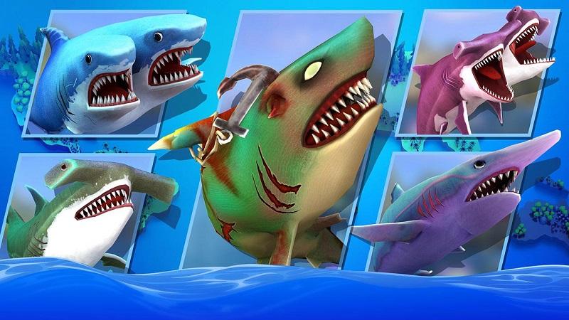 饥饿的双头鲨无限钻石版游戏截图