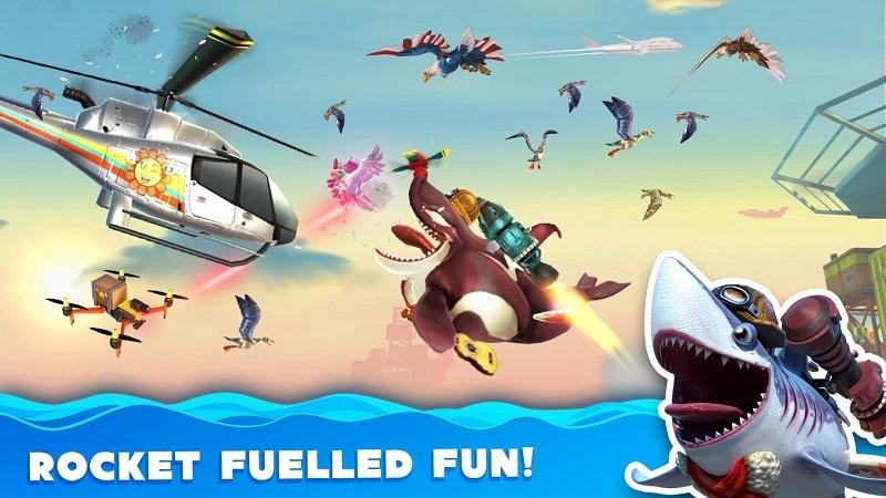 饥饿的鲨鱼世界无敌版游戏截图