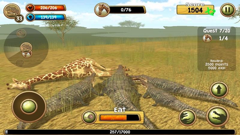 野生凶鳄模拟器3D截图5