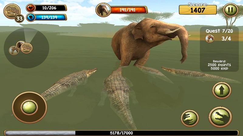 野生凶鳄模拟器3D截图4