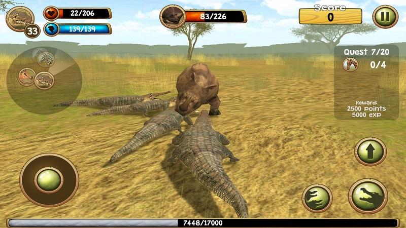 野生凶鳄模拟器3D截图3