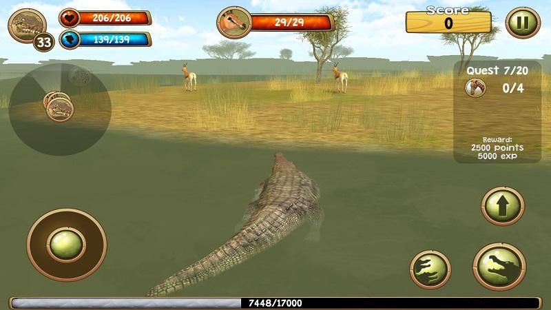 野生凶鳄模拟器3D截图6