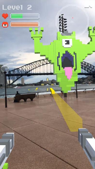 抖音用枪射击鬼的AR游戏宣传图片