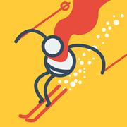 火柴人滑雪图标
