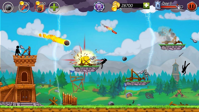 火柴人之守卫城堡2无限金币版游戏截图
