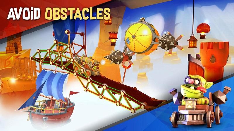 桥梁建造者冒险无限金币版游戏截图