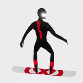 无休止滑雪板图标
