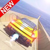 巨型坡道汽车驾驶特技图标