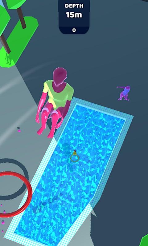 紫色跳水员无限金钱破解版游戏截图