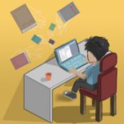 网络小说家模拟图标