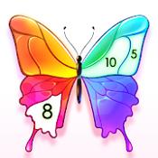 涂料颜色:秘密花园填色游戏图标