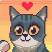 像素猫咪跳跃图标