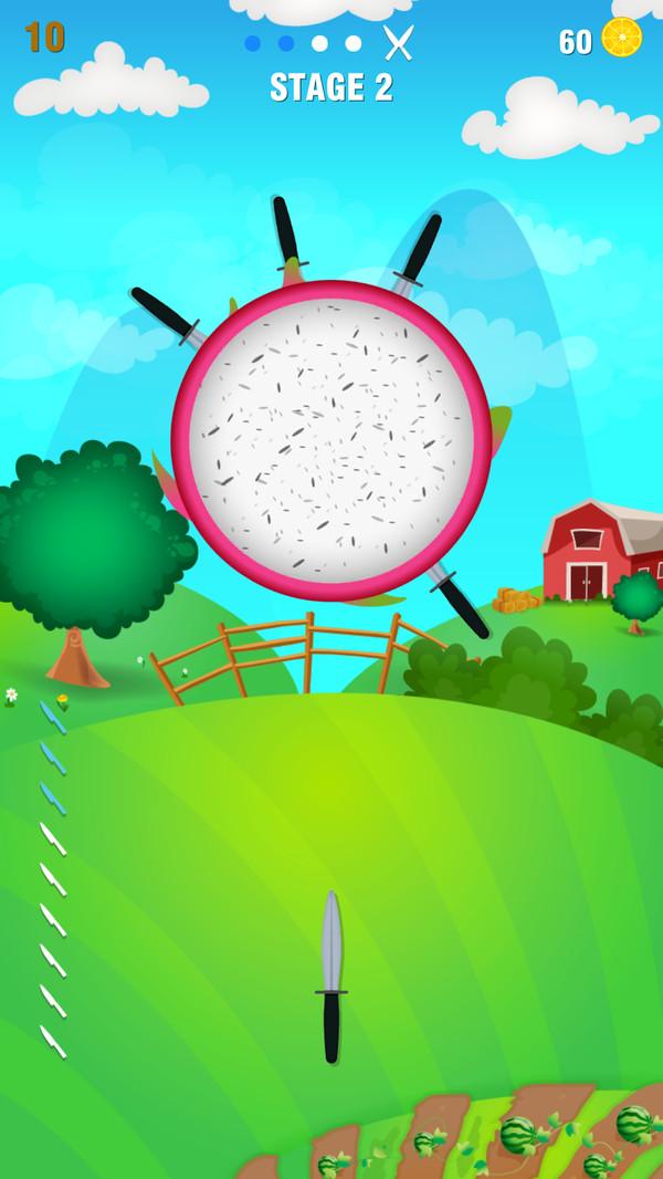 菜刀水果切割游戏截图