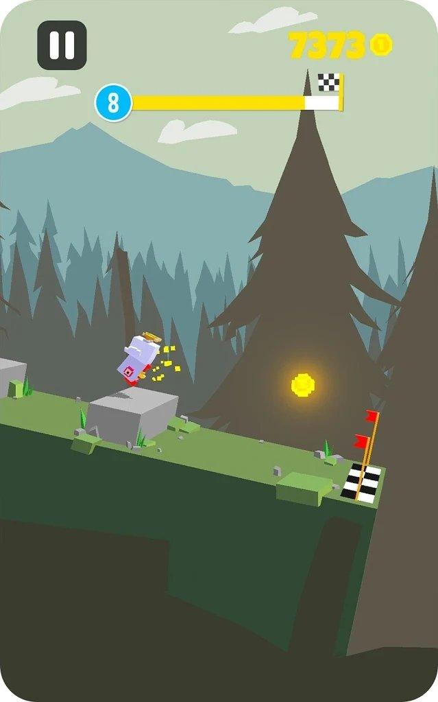 蹦蹦跳跳的山游戏截图