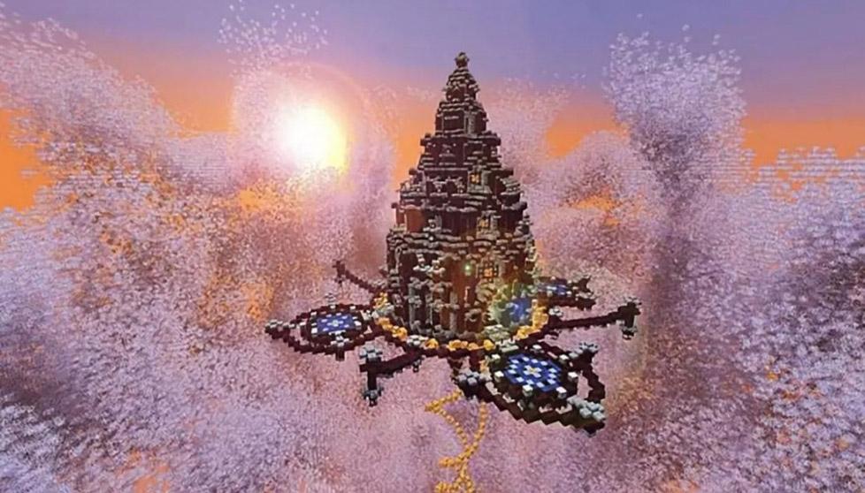 当天空塔来到《我的世界》像极了悬空的巴比伦花园图标