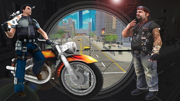 摩托骑士射击游戏安卓版游戏截图