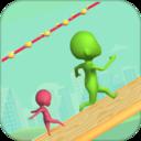 人类跑步比赛3D图标