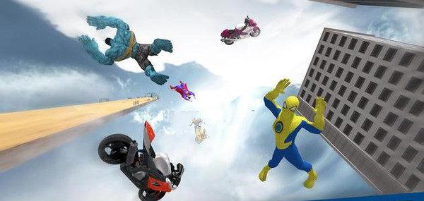 超级英雄特技摩托2020游戏截图