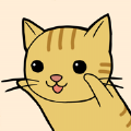 可爱的猫咪生活图标
