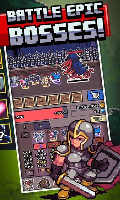 空闲怪物前沿破解版游戏截图